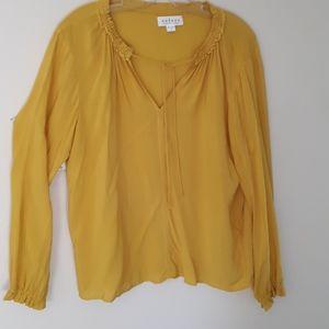 Velvet by Graham and Spencer blouse mustard